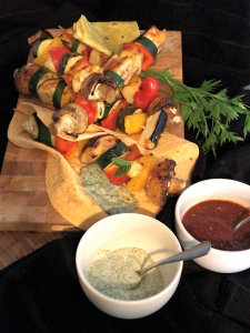 Veggie Skewers in Wraps